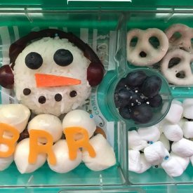 Ear muff snowman