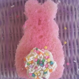 Pink sprinkle cotton tail