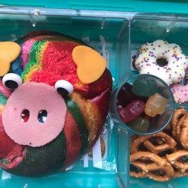 Rainbow Bagel Pig